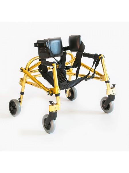 Ходунки на 4-х колесах для больных дцп с подлокотной опорой