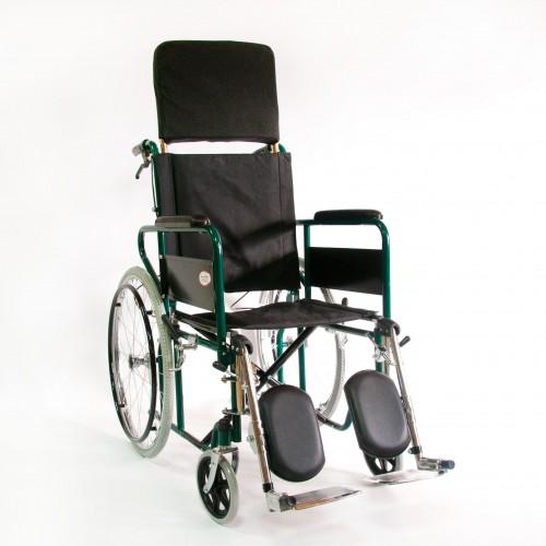 Инвалидная коляска с высокой спинкой стальная с санитарным устройством FS 902 GC-46