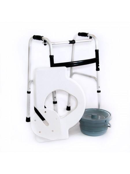 Сиденье с крышкой и съемной ёмкостью стула-кресла с санитарным оснащением
